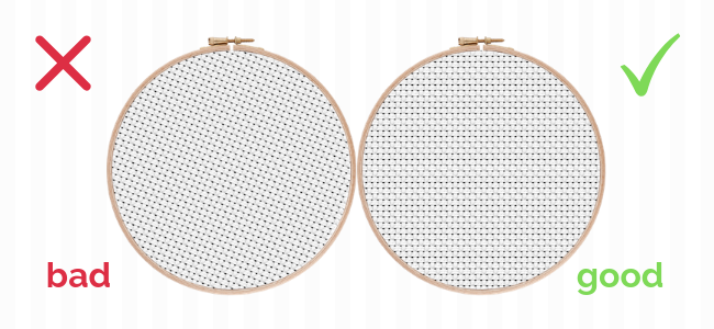 Aligning your cross stitch fabric in the hoop