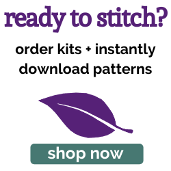 Shop Purple Leaf Designs for cross stitch patterns and kits!