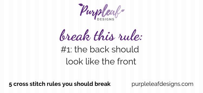 Break This Rule #1: The Back Should Look Like The Front
