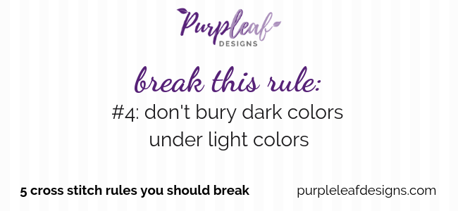 Break This Rule #1: Don't Bury Light Threads Under Dark