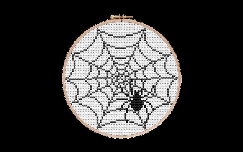 Spider + Spiderweb Cross Stitch Pattern