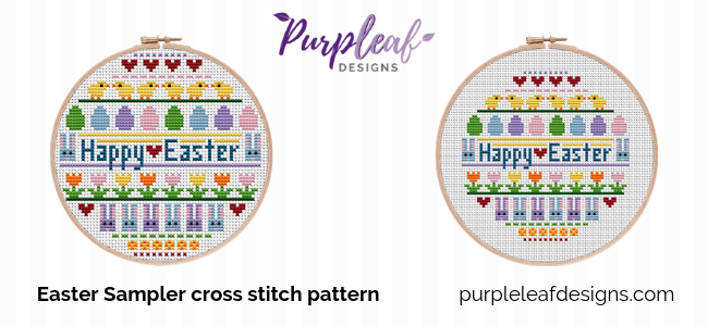 Easter Sampler Cross Stitch Pattern