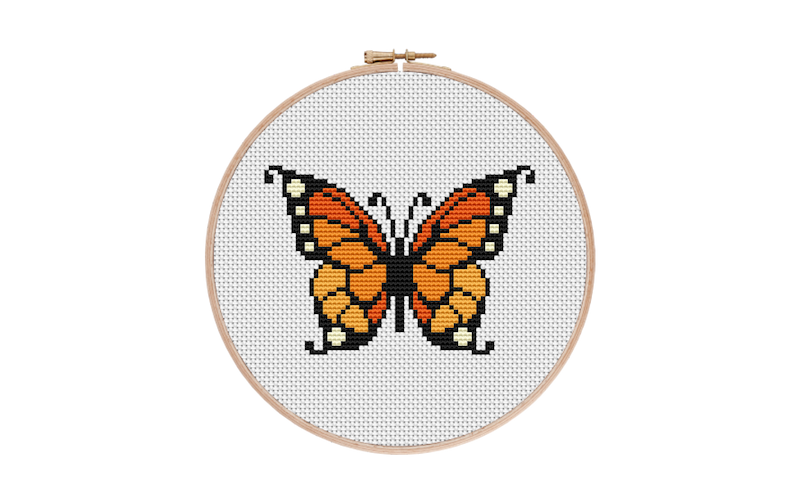 Monarch Butterfly Cross Stitch Pattern