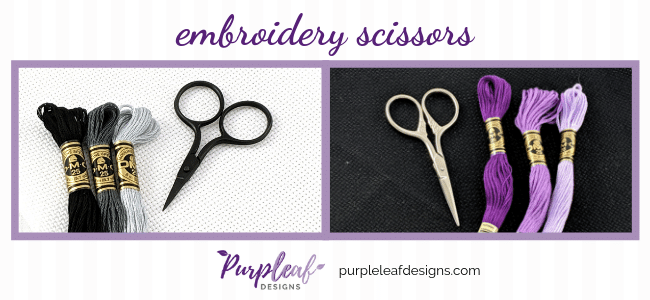 Embroidery scissors for cross stitch