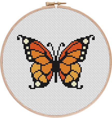 Monarch Butterfly Cross Stitch