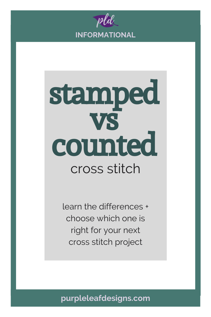 Stamped vs Counted Cross Stitch